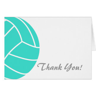 Turquoise; Blue Green Volleyball Card