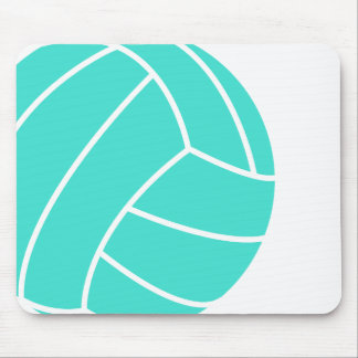 Turquoise; Blue Green Volleyball Mouse Pad