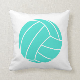 Turquoise; Blue Green Volleyball Throw Pillows