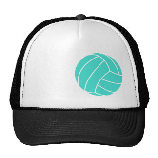 Turquoise; Blue Green Volleyball Trucker Hat