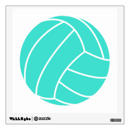 Turquoise; Blue Green Volleyball Wall Sticker