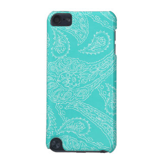 Turquoise blue henna vintage paisley girly floral iPod touch (5th generation) case