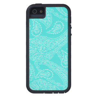 Turquoise blue henna vintage paisley girly floral case for iPhone SE/5/5s