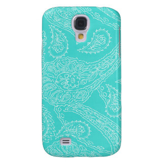 Turquoise blue henna vintage paisley girly floral galaxy s4 case