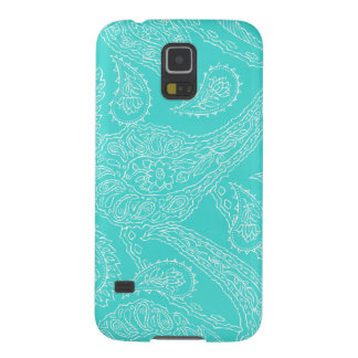 Turquoise blue henna vintage paisley girly floral galaxy s5 case