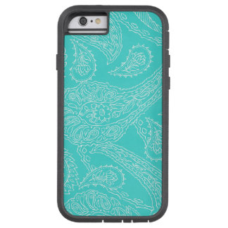 Turquoise blue henna vintage paisley girly floral iPhone 6 case