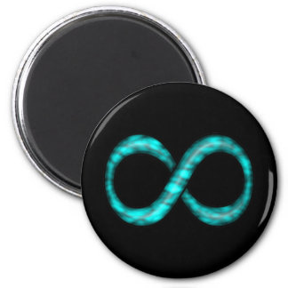 Turquoise Blue Infinity Symbol Magnet
