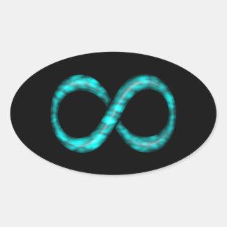 Turquoise Blue Infinity Symbol Sticker