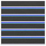 [ Thumbnail: Turquoise, Blue, Lavender & Black Pattern Fabric ]