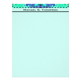 turquoise blue letterhead