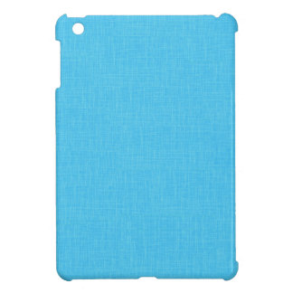 Turquoise Blue Linen Fabric Textured Background Cover For The iPad Mini