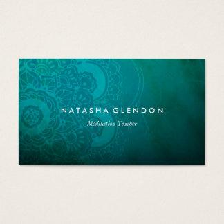 Turquoise Blue Mandala Zen Business Card