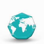 turquoise blue map awards