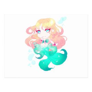 Turquoise Blue Mermaid Postcard