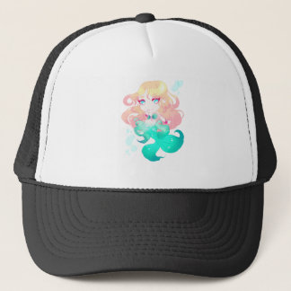 Turquoise Blue Mermaid Trucker Hat