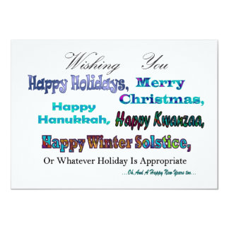 Turquoise Blue Multi Holiday Greeting Card