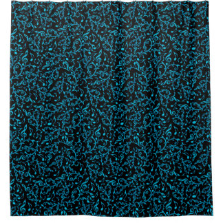 Black And Turquoise Shower Curtains | Zazzle