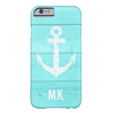Turquoise blue nautical anchor iphone 6 case