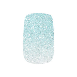 Turquoise Blue Ombre Glam Glitter Minx Nail Wraps