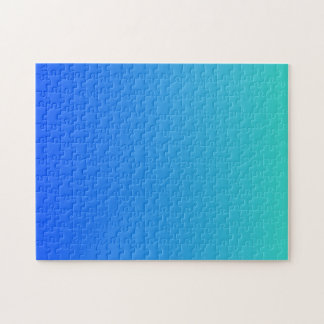 Turquoise Blue Ombre Puzzle