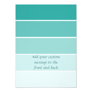 Turquoise Blue Paint Chip Card