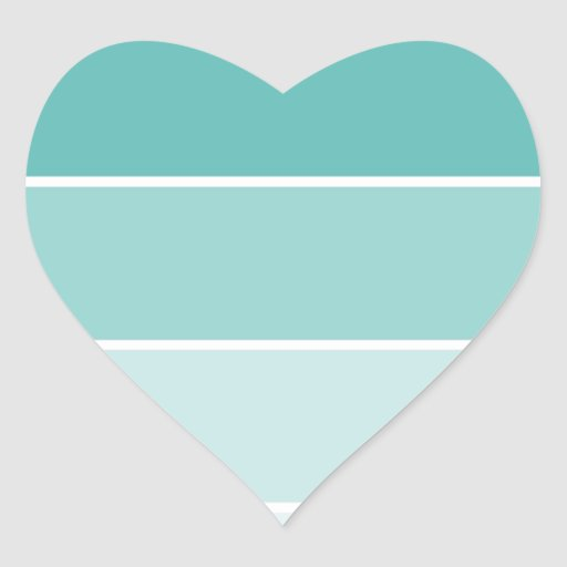 Turquoise Blue Paint Chip Heart Sticker