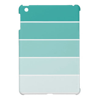 Turquoise Blue Paint Chip iPad Mini Cover
