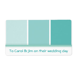 Turquoise Blue Paint Chip Label