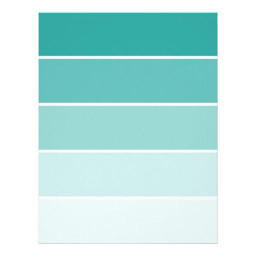 Turquoise Blue Paint Chip Letterhead | Zazzle