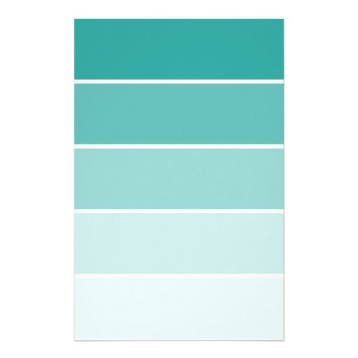 Turquoise blue paint chip personalized stationery zazzle - Bright turquoise paint colors ...
