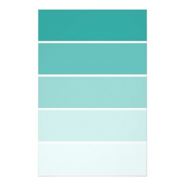 Turquoise Blue Paint Chip Stationery