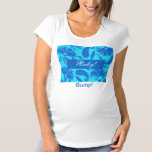 Turquoise & Blue  Paisley Baby Bump Maternity Tee