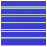[ Thumbnail: Turquoise & Blue Pattern of Stripes Fabric ]