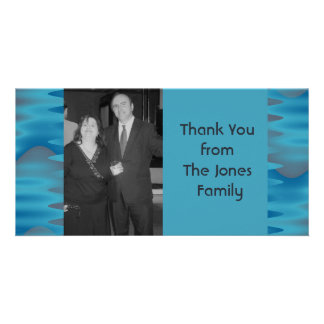 turquoise blue photo card