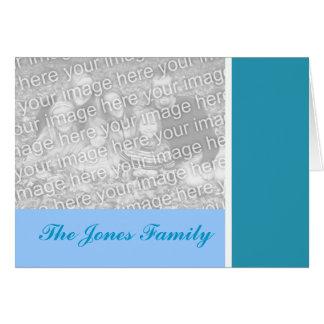 Turquoise blue photoframe card