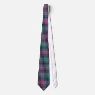 Turquoise Blue Pink Plaid Neck Tie