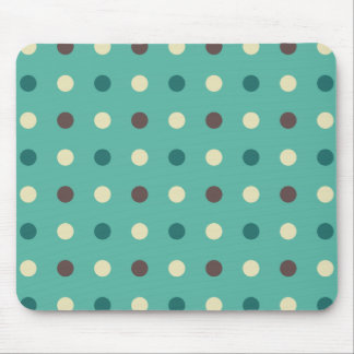 Turquoise Blue Polka Dots Mouse Pad