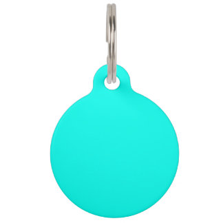 Turquoise Blue Premium Complementary Color Pet Tag