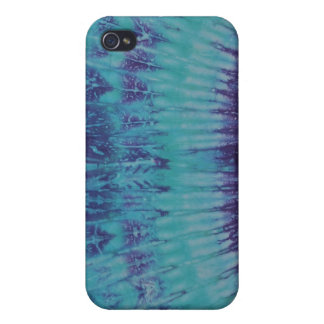 Turquoise Blue & Purple Tie Dye iPhone 4 Case