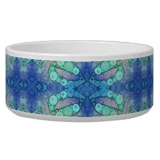 Turquoise Blue Sassy Lips Pet Bowl