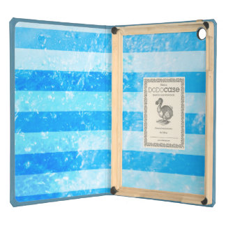 Turquoise Blue Sea Stripes Cover For iPad Air