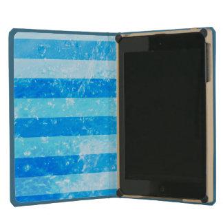 Turquoise Blue Sea Stripes iPad Mini Cases