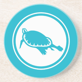 Turquoise Blue Sea Turtle Marine Creature coaster