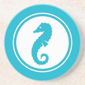 Turquoise Blue Seahorse Marine Creature coaster