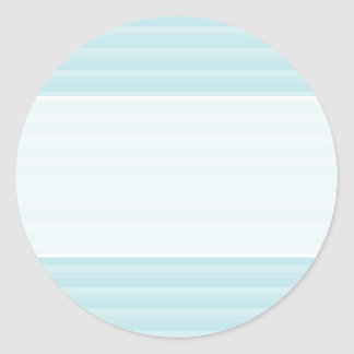 Turquoise Blue Stripes. Classic Round Sticker