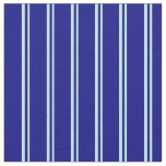 [ Thumbnail: Turquoise & Blue Stripes Fabric ]