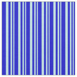 [ Thumbnail: Turquoise & Blue Stripes/Lines Pattern Fabric ]