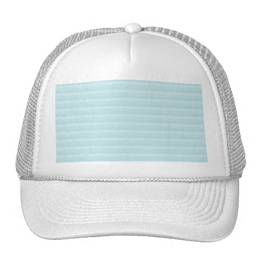 Turquoise Blue Stripes. Mesh Hat