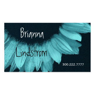 Turquoise Blue Sunflower Business Card Templates