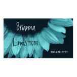 Turquoise Blue Sunflower Business Card Template